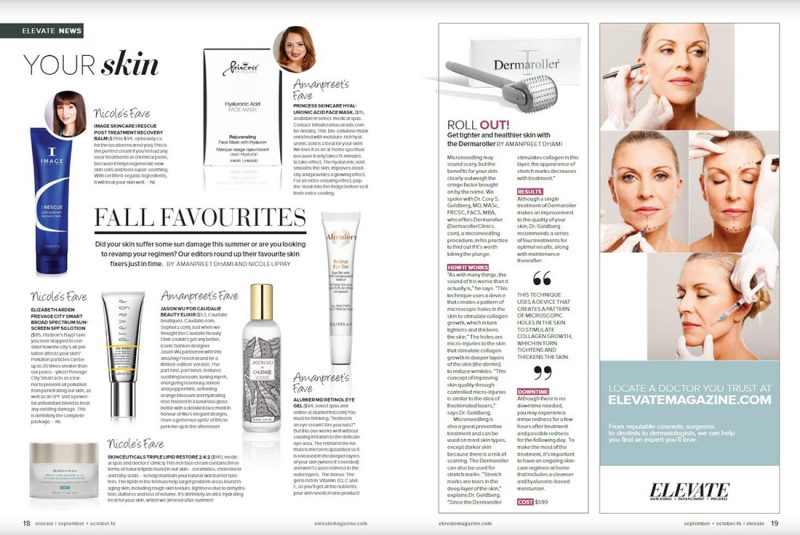 AlumierMD Retinol Eye Gel tube on magazine article.