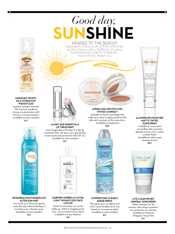 AlumierMD Moisture Matte sunscreen tube on magazine article page